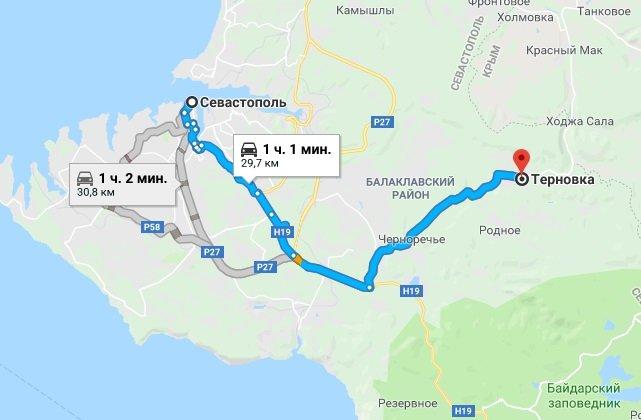 Где находится село Терновка