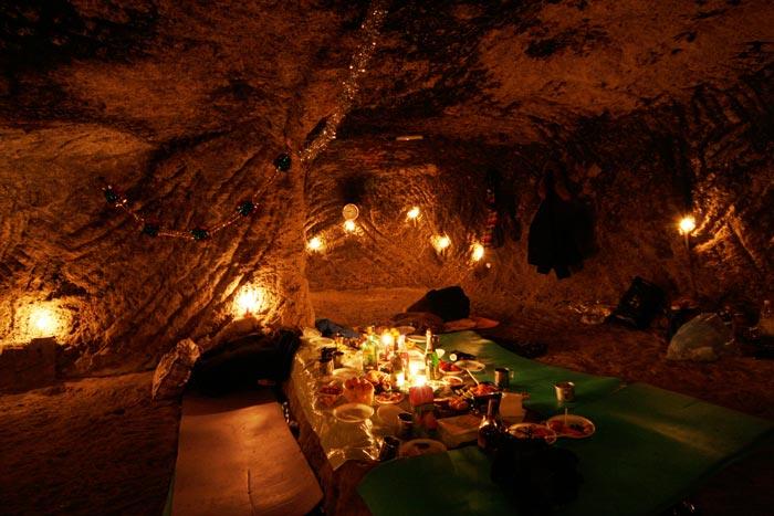Новогодняя ночь в пещере