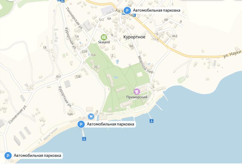 Три парковки в поселке Курортный