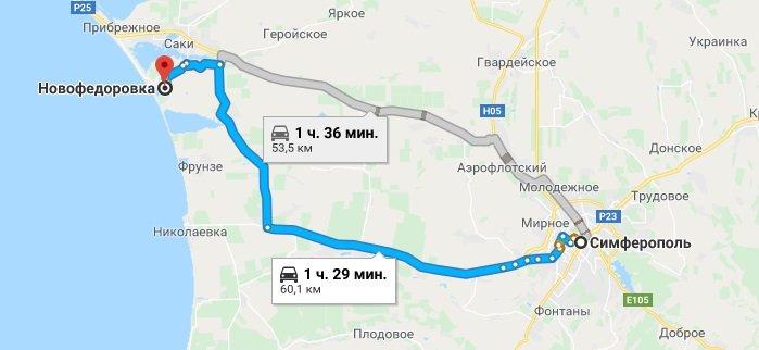 Как добраться до Новофедоровки